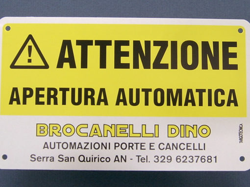 Targa in alluminio Brocanelli
